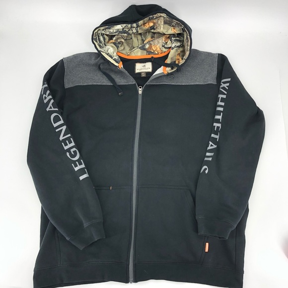 Legendary Whitetails Other - Legendary Whitetails Black Camo Zip Hoodie